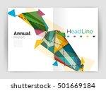 geometric annual report... | Shutterstock .eps vector #501669184