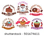 pastry shop and cafe sign set... | Shutterstock .eps vector #501674611