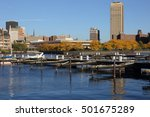buffalo  ny skyline at  late... | Shutterstock . vector #501675289