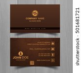 colorful business card template   Shutterstock .eps vector #501681721