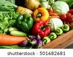Fresh Organic Vegetables In...