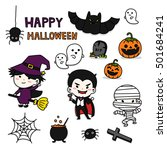vector set of characters for... | Shutterstock .eps vector #501684241