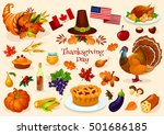 thanksgiving day. vector... | Shutterstock .eps vector #501686185