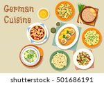 german cuisine bavarian dishes... | Shutterstock .eps vector #501686191
