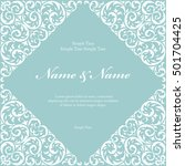 wedding invitation cards with... | Shutterstock .eps vector #501704425