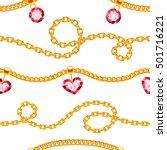 Golden Chains With Gemstones...