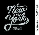 new york. the city that never... | Shutterstock .eps vector #501726811