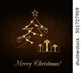 merry christmas celebration... | Shutterstock .eps vector #501727909