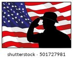 veterans day. the soldier on a... | Shutterstock .eps vector #501727981