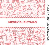 christmas. new year. template... | Shutterstock .eps vector #501731449