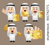 cute set   arab   set of... | Shutterstock .eps vector #501742771