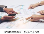 asia business people discussing ... | Shutterstock . vector #501746725