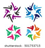 vector colorful people logo... | Shutterstock .eps vector #501753715