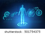 abstract technology health care ...   Shutterstock .eps vector #501754375