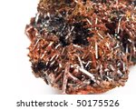 Crocoite - mineral consisting of lead chromate - stock photo