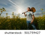 gay single man plays guitar in... | Shutterstock . vector #501759427
