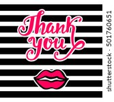 thank you bright card in retro... | Shutterstock .eps vector #501760651