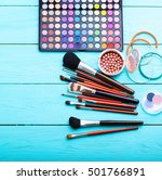 cosmetics and accessories on... | Shutterstock . vector #501766891