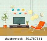 living room interior concept... | Shutterstock .eps vector #501787861