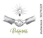vector hand drawn business idea ... | Shutterstock .eps vector #501791329
