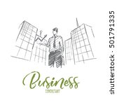 vector hand drawn business... | Shutterstock .eps vector #501791335