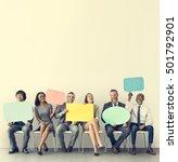 business team speech bubble... | Shutterstock . vector #501792901