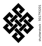 endless knot  a vector... | Shutterstock .eps vector #501793201