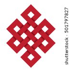 endless knot  a red vector... | Shutterstock .eps vector #501797827