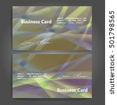 stylish business cards with... | Shutterstock .eps vector #501798565