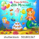 cute birthday design elements... | Shutterstock .eps vector #501801367