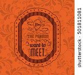 attitude phrase inside frame... | Shutterstock .eps vector #501811081