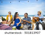 group of people together concept | Shutterstock . vector #501813907