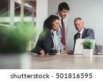 teamwork and strategy in the... | Shutterstock . vector #501816595