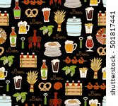 vector seamless pattern with...   Shutterstock .eps vector #501817441