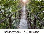 suspension bridge  crossing the ... | Shutterstock . vector #501819355