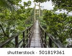suspension bridge  crossing the ... | Shutterstock . vector #501819361