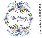 wildflower anemone flower frame ... | Shutterstock . vector #501819451