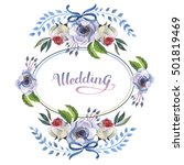 wildflower anemone flower frame ... | Shutterstock . vector #501819469