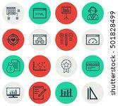set of 16 universal editable... | Shutterstock .eps vector #501828499
