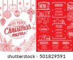 christmas restaurant brochure ...   Shutterstock .eps vector #501829591