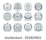 outline colorless vector beer... | Shutterstock .eps vector #501829831