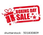 boxing day grunge rubber stamp... | Shutterstock .eps vector #501830809