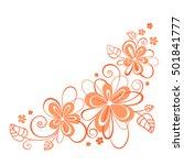 flowers ornament. | Shutterstock .eps vector #501841777