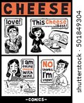 people and cheese black and...   Shutterstock .eps vector #501849304