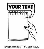 notebook in hand drawing line...   Shutterstock .eps vector #501854827