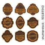 Stock vector set of vintage brown labels for design food and beverages jpeg version also available 50185543