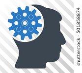 smooth blue head gear toolbar...   Shutterstock .eps vector #501858874