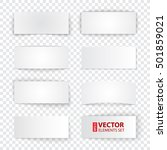 set of blank paper banners with ... | Shutterstock .eps vector #501859021