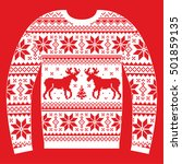 ugly christmas jumper or... | Shutterstock .eps vector #501859135