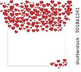 card for valentine's day  place ...   Shutterstock .eps vector #501861241